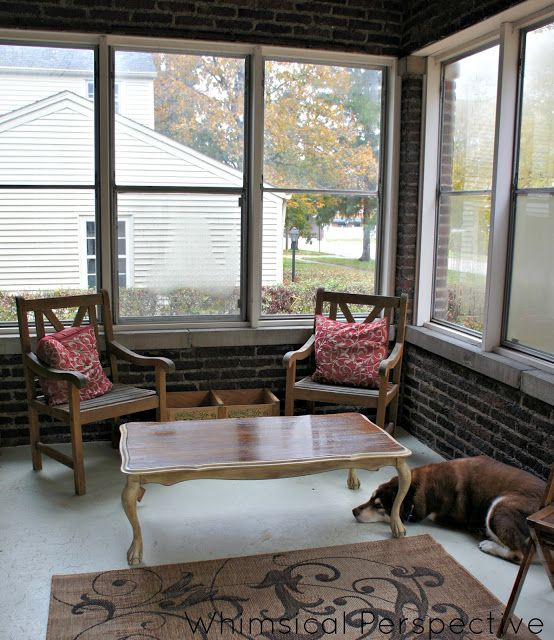 Love The Rug, Ideas For Enclosed Porch