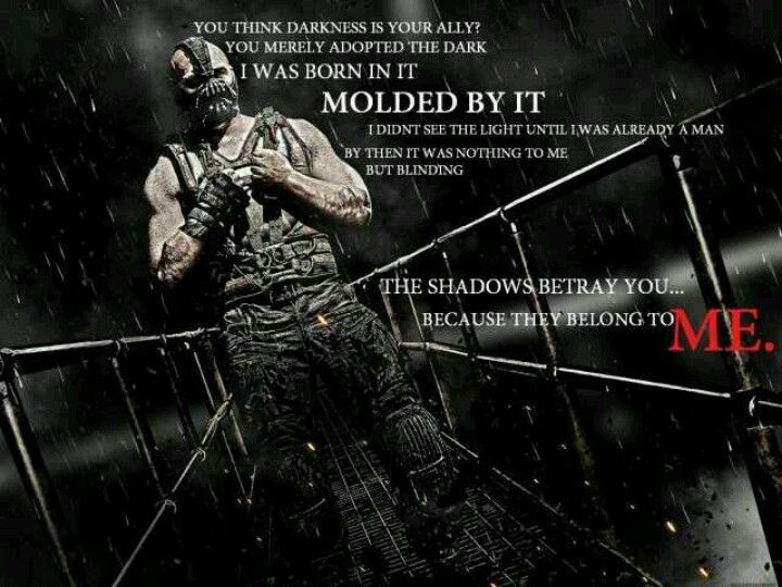 You Adopted The Darkness Quote: Oh, You Think Darkness Is Your Ally. But You Merely