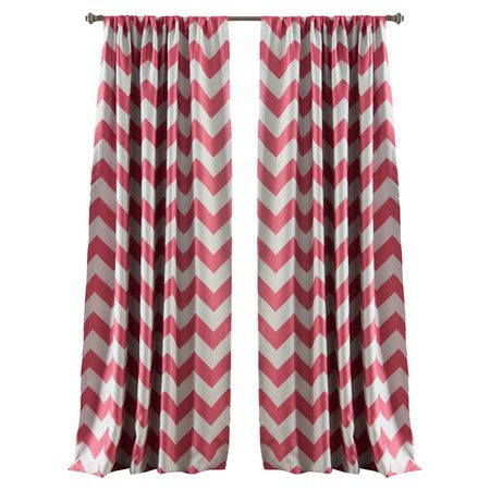 Cherie Curtain Panel In Pink Set Of 2 Stylish Curtains Rod Pocket Curtain Panels Panel Curtains