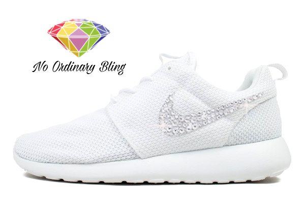 Nike Pink Bling Roshe Run Women's White/White