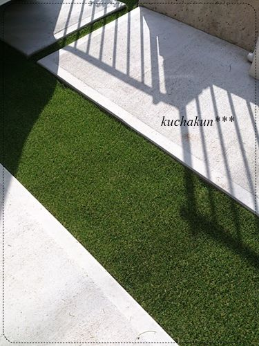 戸建て駐車場のdiy作戦 駐車スペースを本物芝じゃなくて人工芝にして