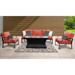 6 Piece Outdoor Patio Furniture Set Arcadia Furniture Patio Furniture Sets Wicker Patio Chairs
