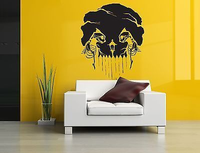 Wall Room Decor Art Vinyl Sticker Mural Decal Skull Skeleton Grim Cats AS102