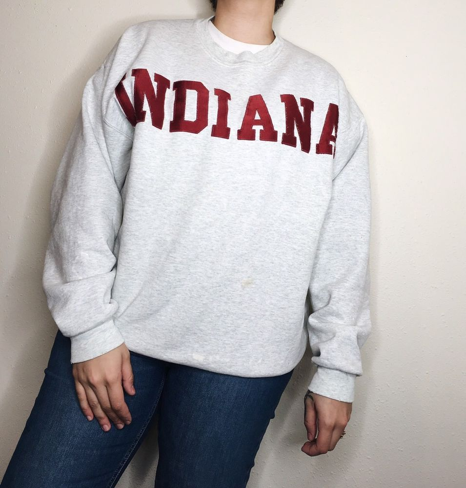 Vintage 1980s Indiana Crewneck Fruit of the Loom Tag Size