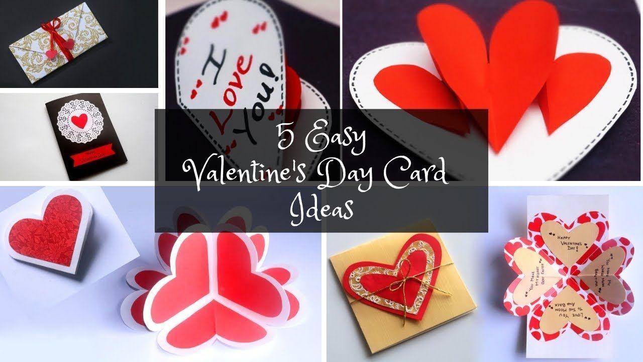 5 Easy Valentine S Day Card Ideas Diy Pop Up Cards Youtube Easy Valentine Cards Valentines Day Cards Handmade Diy Pop Up Cards