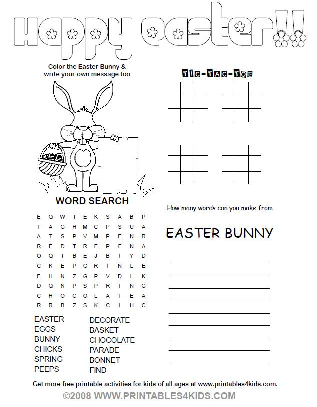 photo regarding Printable Easter Games known as No cost printables for small children. easter Easter online games for young children