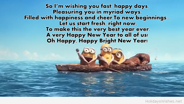 funny minions wallpapers happy new year 2015