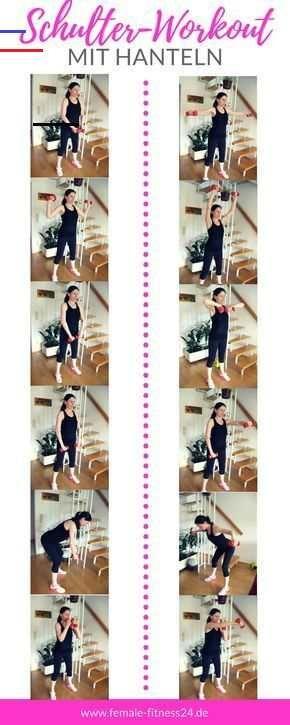 ▷ Schulterworkout mit Kurzhanteln - Fitness-Studio oder Home-Workout Workout für schöne Schultern! M...