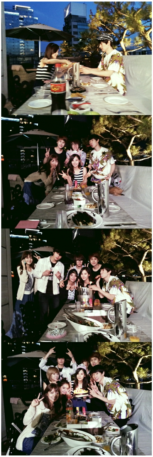 Super Junior's Eunhyuk at Seohyun (of SNSD)'s birthday party.