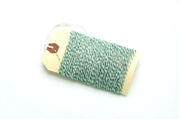 Green Baker's Twine  50 Yards by PartAndParcelShop on Etsy, $6.00