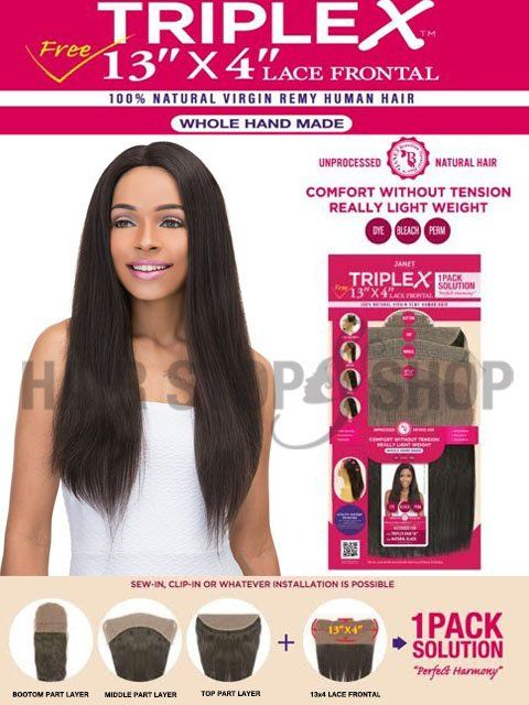 Janet Collection Virgin Remy Triplex 13x4 Lace Frontal Closure