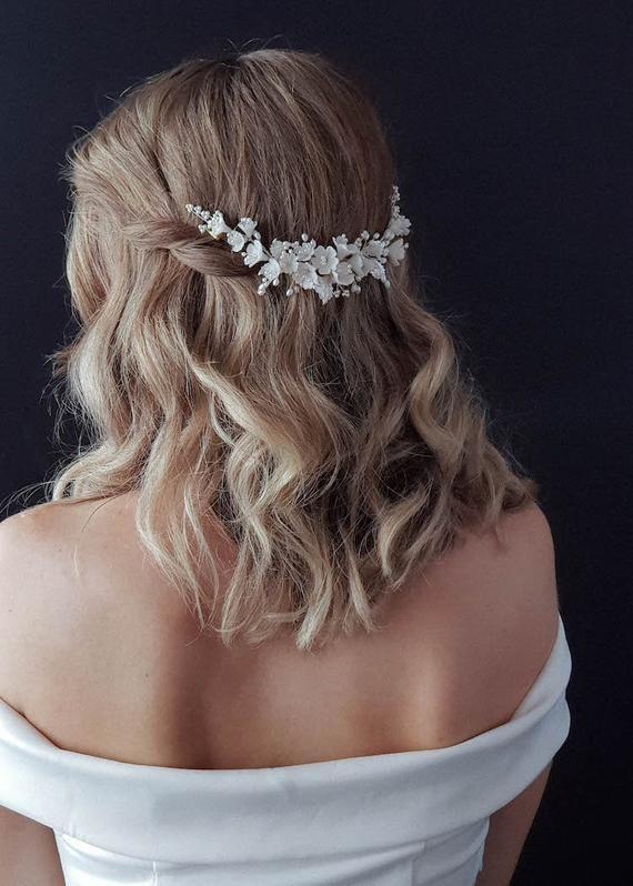 EMILIE | Wedding hair accessories, floral bridal headpiece