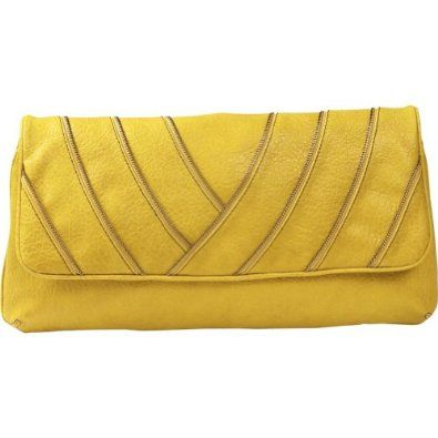 Etienne Aigner Casablanca Clutch,Lemon,one size