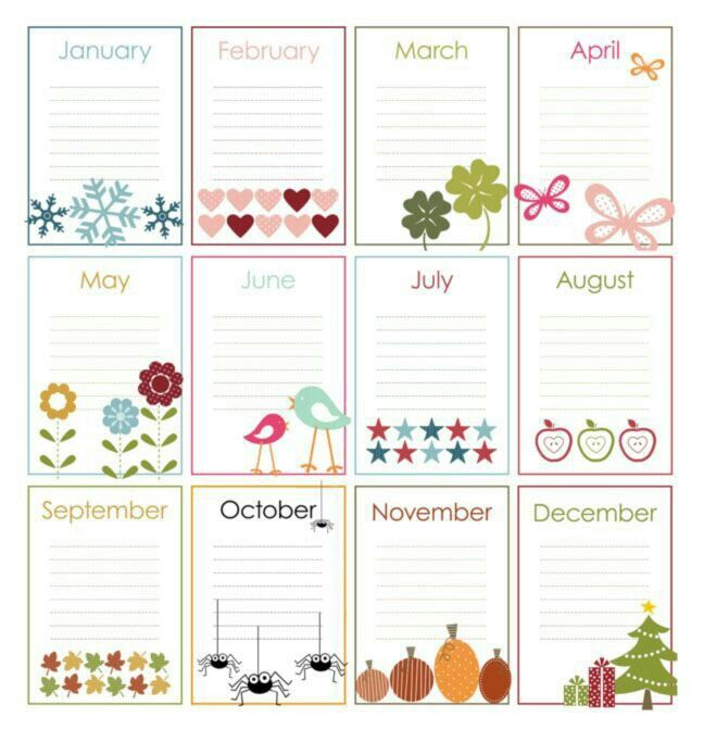 Birthday List Template Free Cool Pindonna Bridges On Calendar  Pinterest  Birthday Calender .