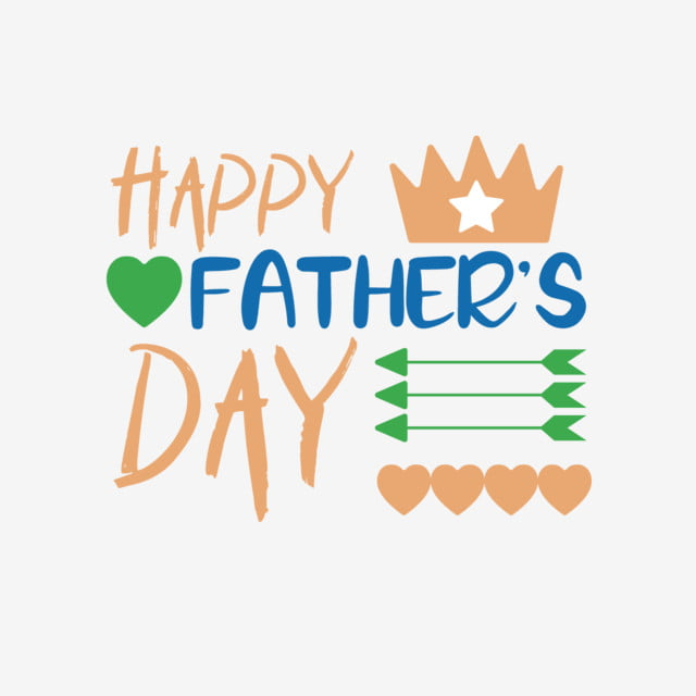 Happy Fathers Day Art Word Svg