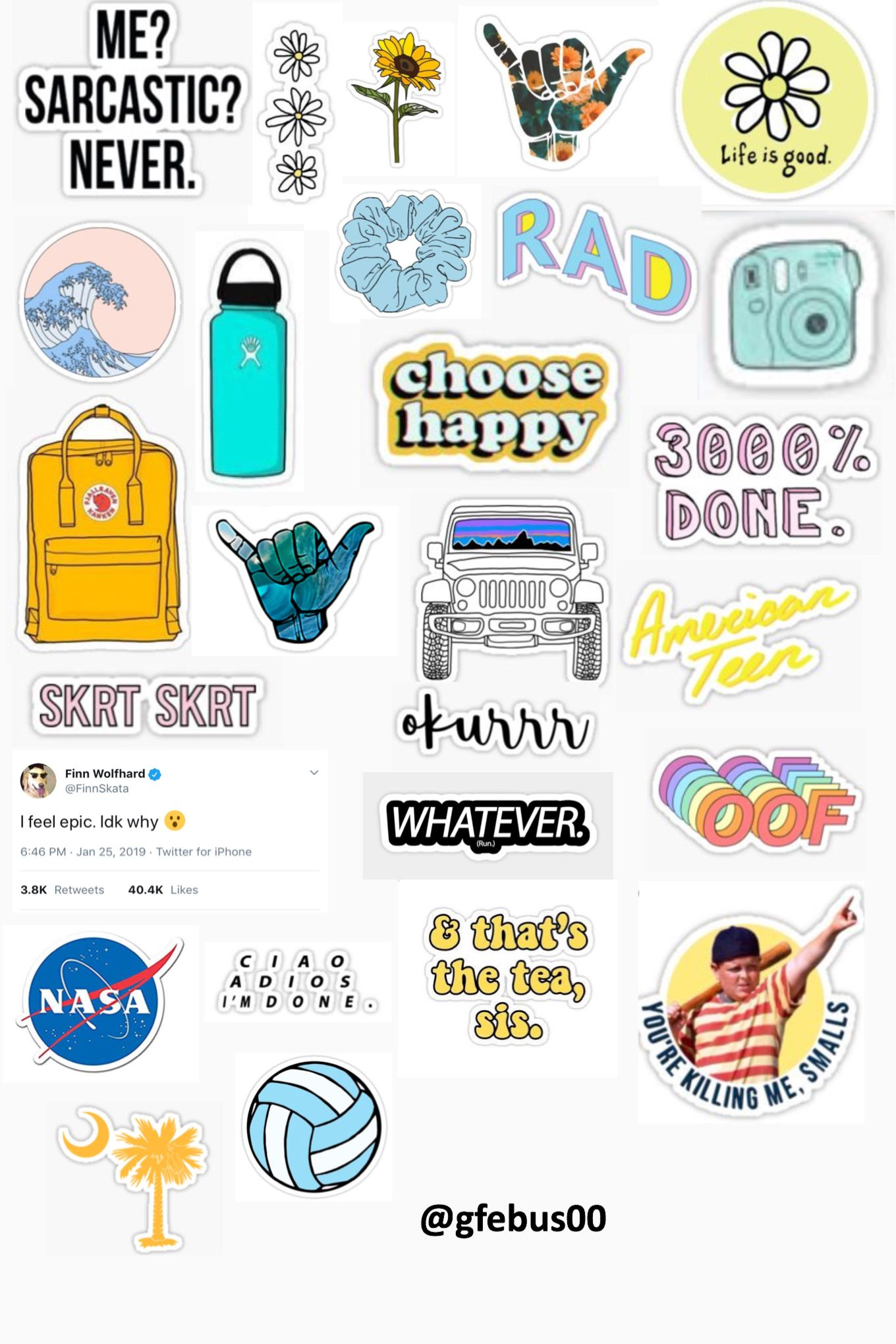 photograph about Aesthetic Stickers Printable called gfebus sticker template :) Stickers within just 2019 Tumblr cell phone