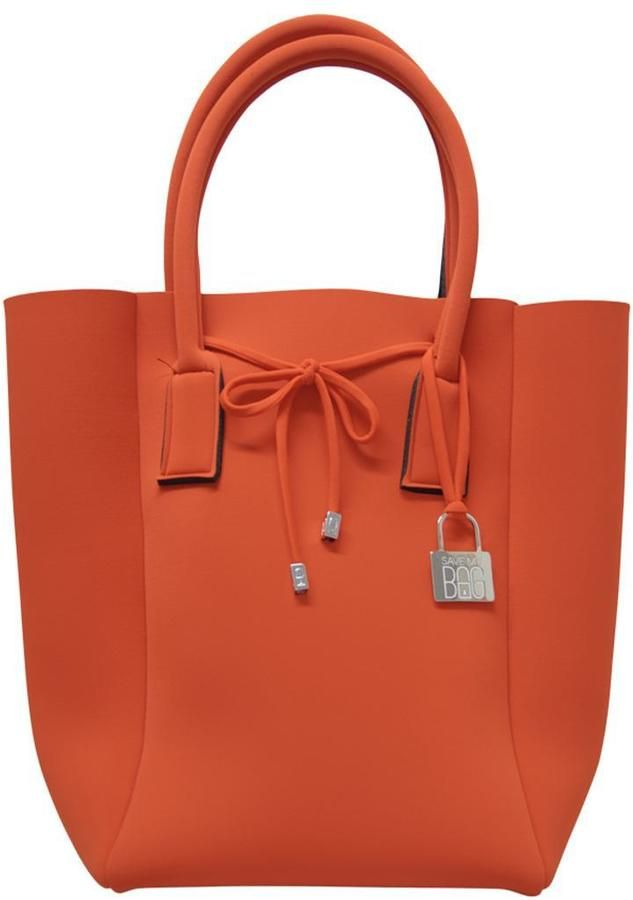 565bf6efcd Save My Bag Orange Neoprene Tote