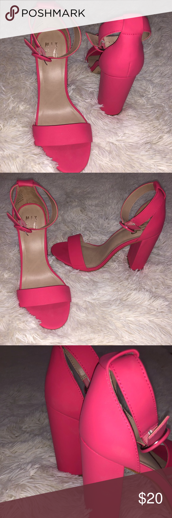3bdcd0f5ea1 ✨🌟Mix No. 6 Pink Sandal Heels🌟✨ Worn 3 times!! In great ...
