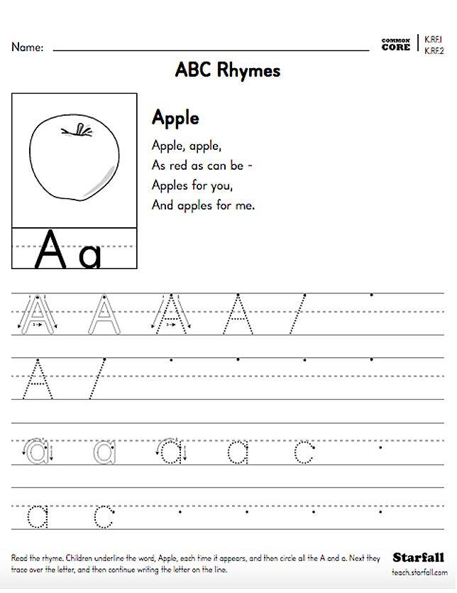 First Grade ABC Rhymes Worksheet Generator - K.RF.1 & K.RF.2 - teach ...
