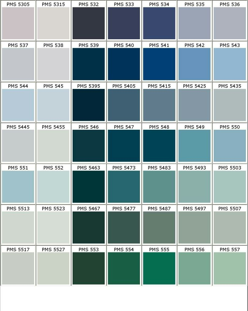Nuancier Pantone Bleu Vert D Co Pinterest Pantone Salons And