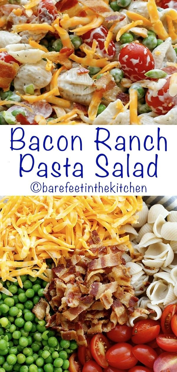 Ranch Pasta SaladBacon Ranch Pasta Salad  Broccoli Bacon Ranch Pasta Salad  Move over pea salad, be