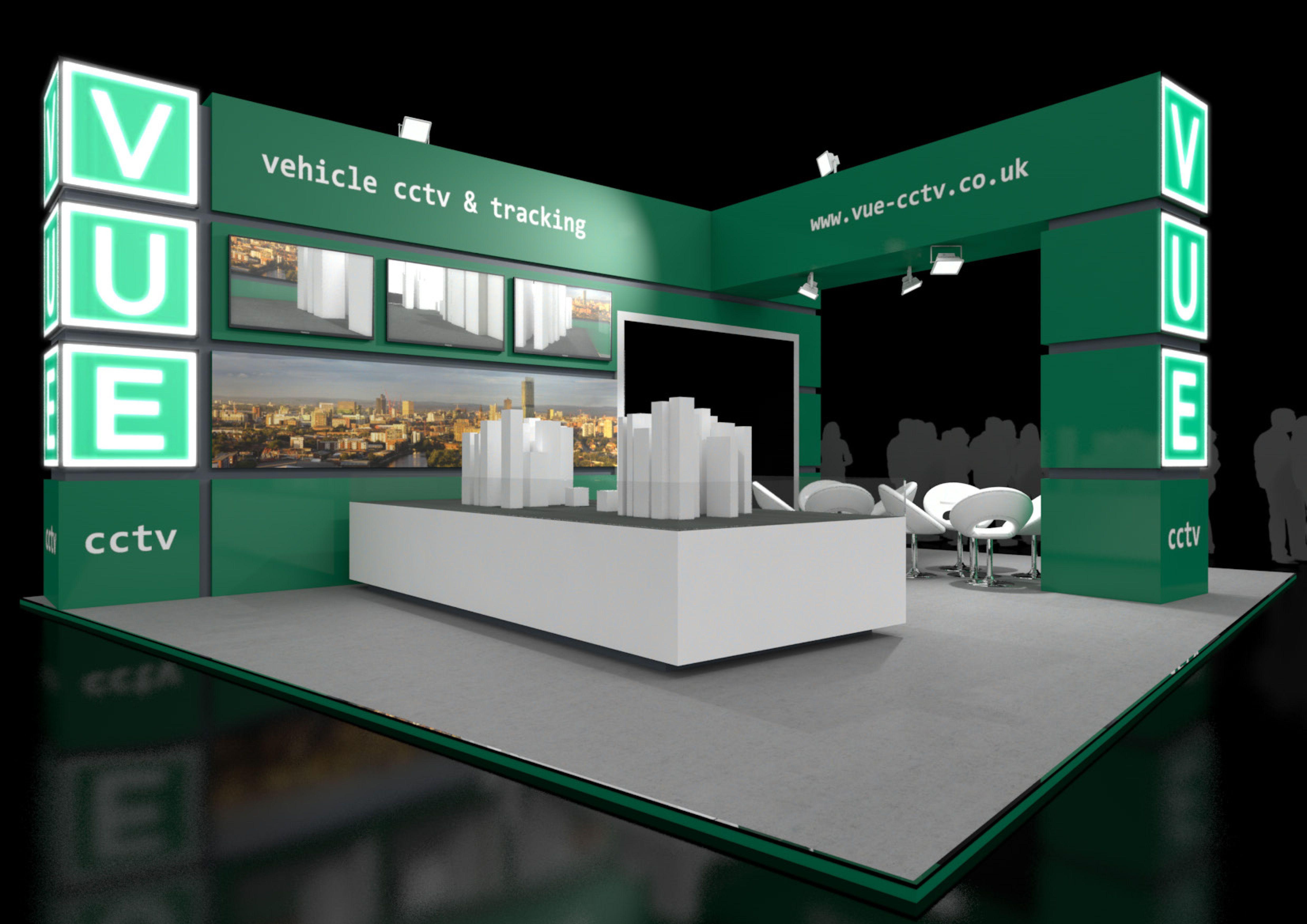 Exhibition Stand Design Birmingham : Exhibition stand design created for vue cctv