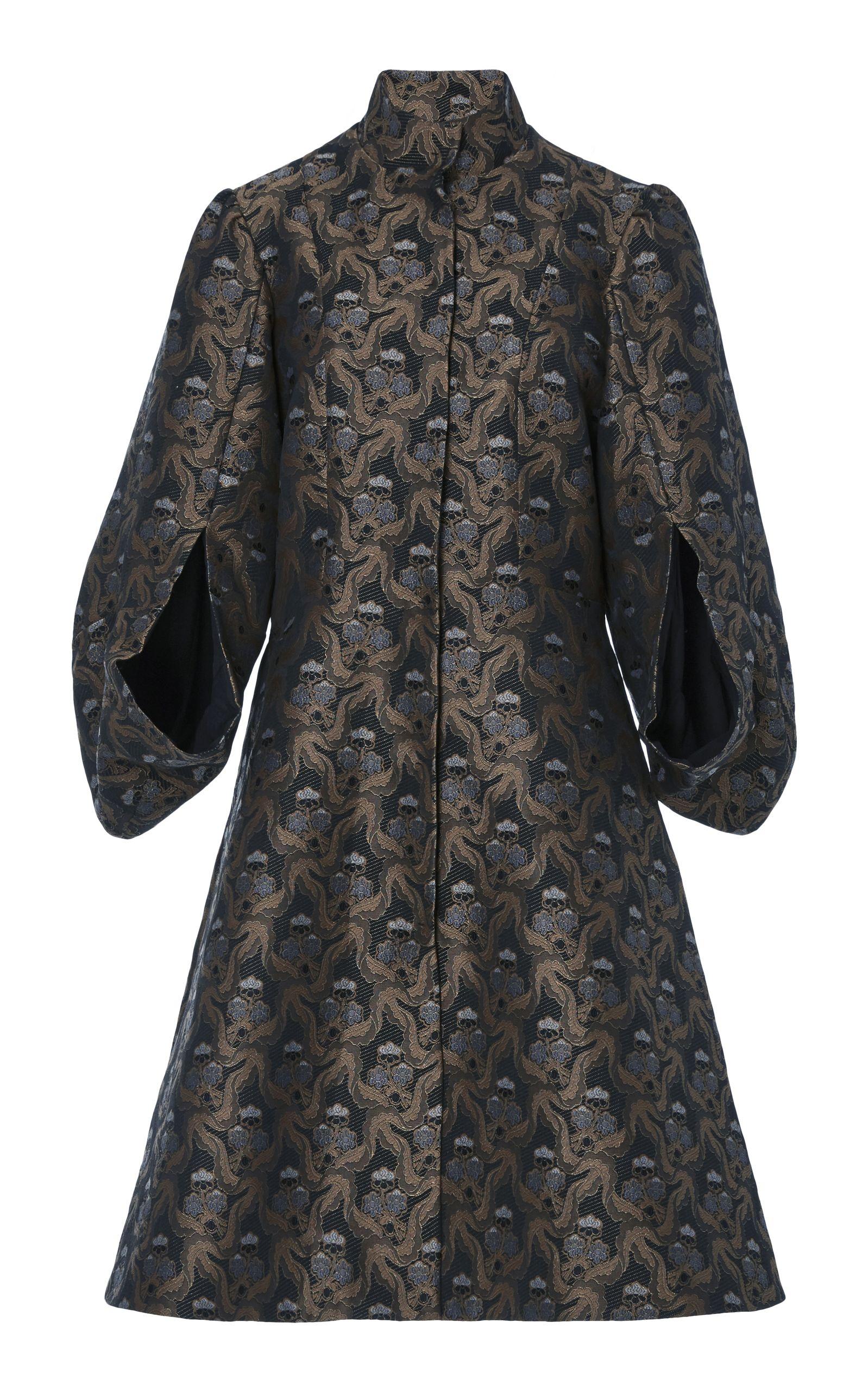 Brocade balloon sleeve jacket fashion pinterest delicate moda