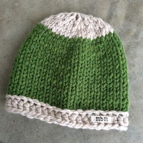 Free pattern - simple chunky knit hat | Knitting hats | Pinterest