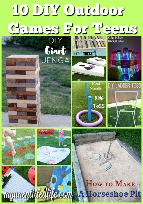 10 Diy Outdoor Games For Teens Backyard Party Games Fun Outdoor