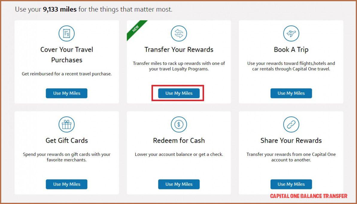 8 various ways to do capital one balance transfer