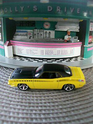 Ad - LOOSE Hot Wheels '70 Plymouth AAR Cuda Muscle Mania '11 Series Blk/Yel 1:64