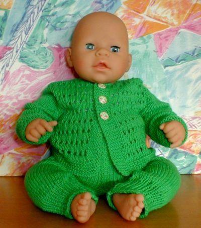 Dukketøj strikket sæt til chou chou