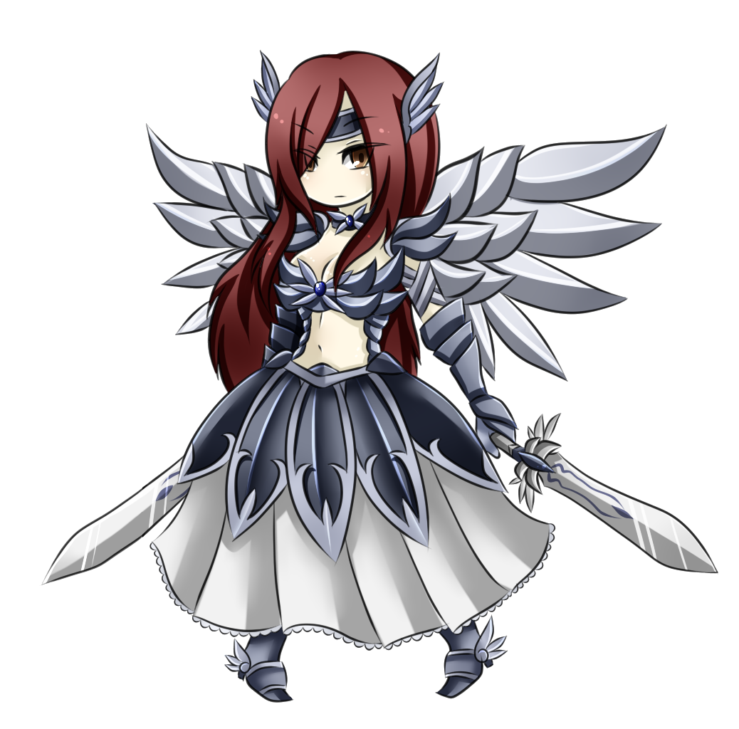 Erza chibi heaven 39 s wheel armour anime cry - Fairy tail a colorier ...