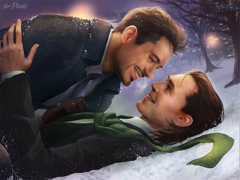 The Avengers (MCU) - Loki Laufeyson x Tony Stark - Frostiron