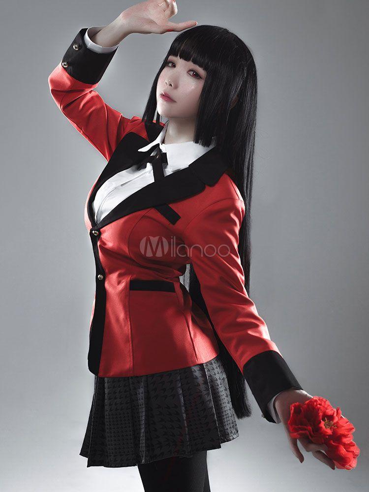 Photo of Kakegurui Compulsive Gambler Jabami Yumeko Halloween Cosplay Costume Halloween