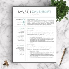 Professional And Modern Resume Template For Word And Pages