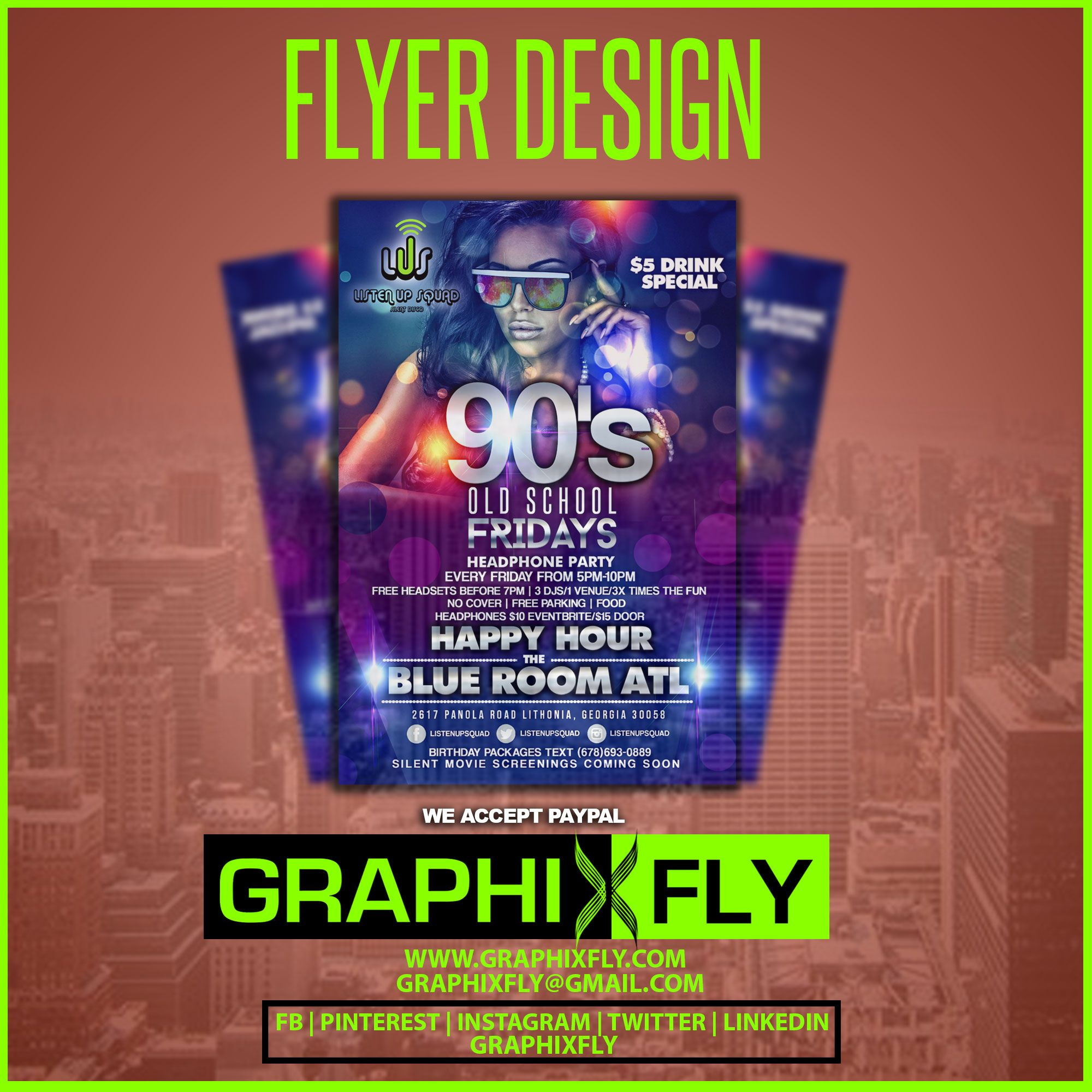 Top Flyer of the day!! 90s Old School Fridays Flyer designs