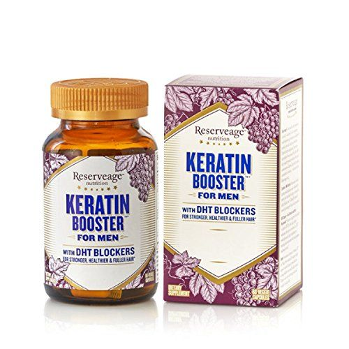 Reserveage Keratin Booster For Men With Dht Blockers Supports The Maintenance Of Healthy And