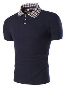Camisa Polo blanca camisa de Polo de algodón Chic para hombres ... ecf0c40eb0d62