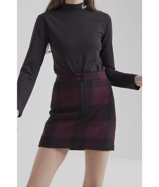 Photo of thinking mu Short Skirt Wine Checks