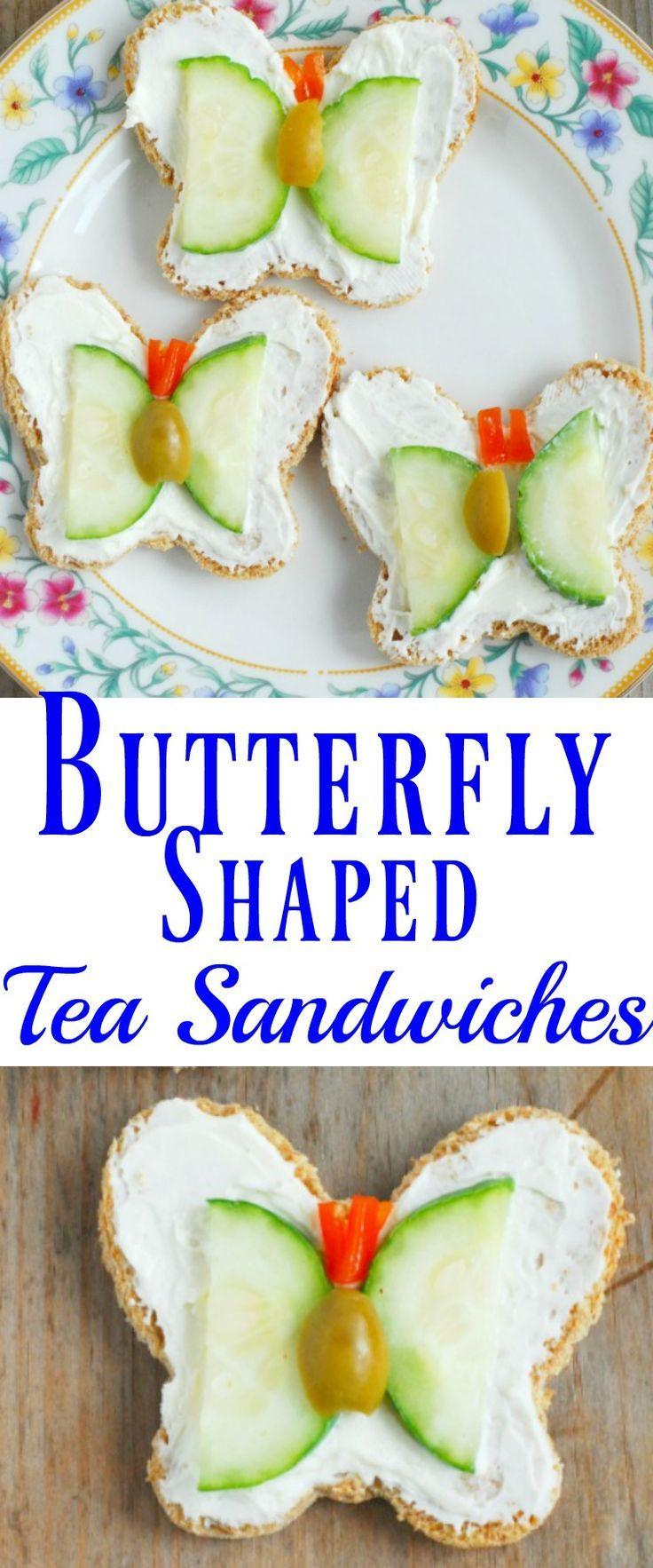Butterfly Shaped Tea Sandwiches | Rezept | Pinterest | Lecker und Küche