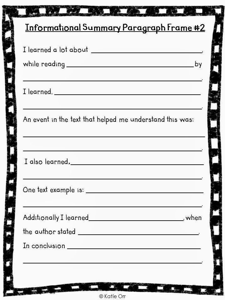 Awesome Freebie!! Paragraph Frames--Extended Version! Great way to ...