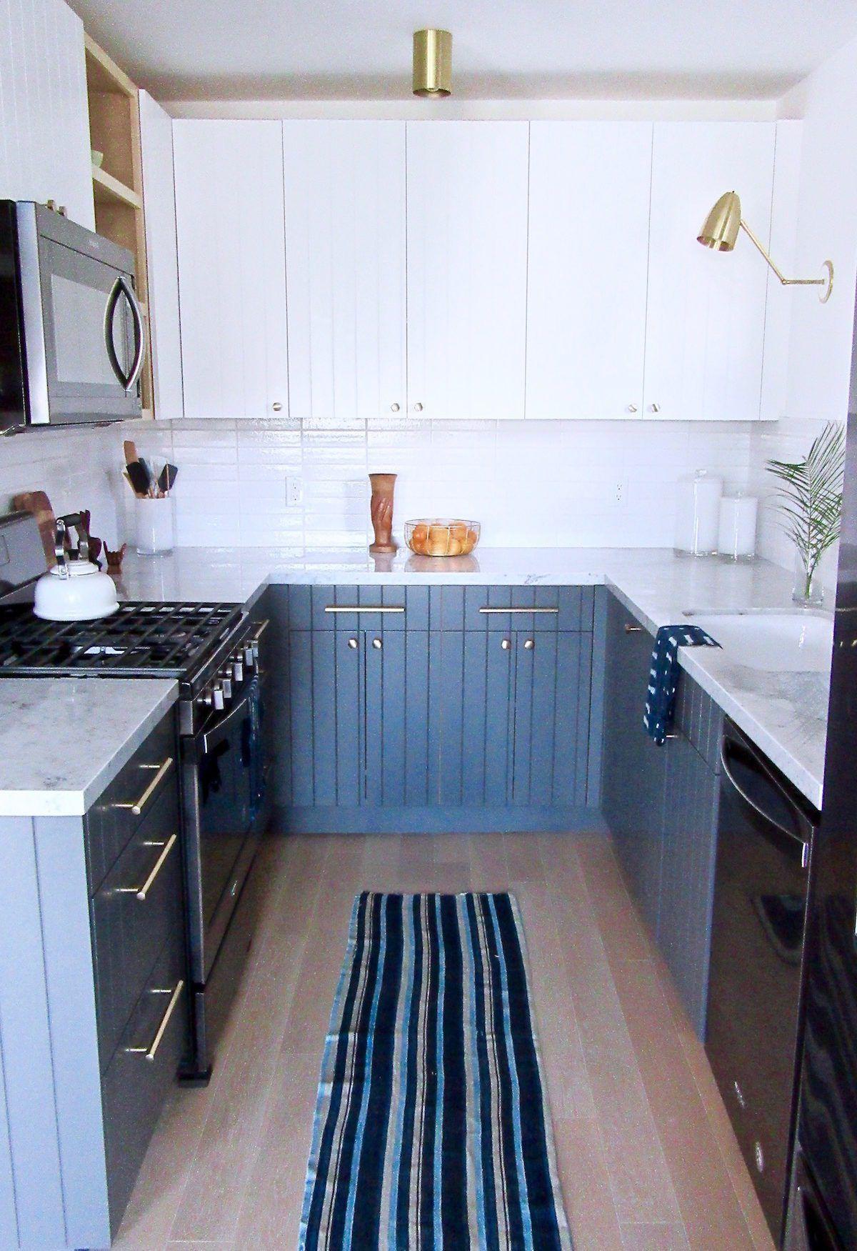 Silver Lake Small Kitchen Remodel - Black Appliance Trend | Black ...