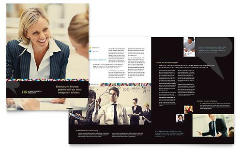 Human Resource Management Brochure Template by StockLayouts ...