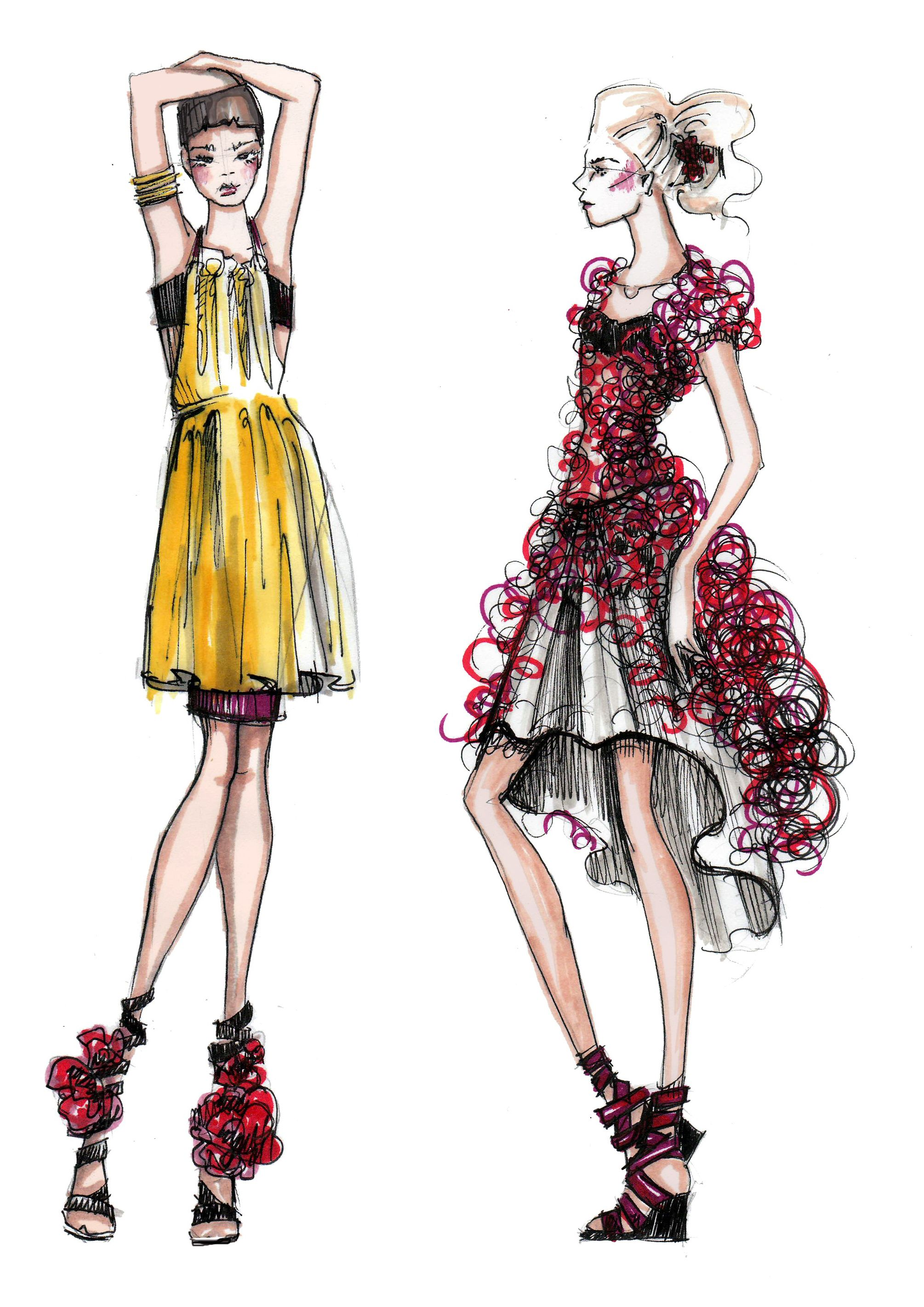Dress Up Paper Fashion Fashion Design Fashion Illustration Sketches