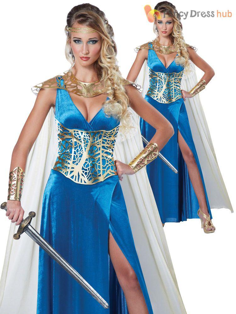 Ladies Warrior Queen Princess Gladiator Fancy Dress Costume Womens UK 8 - 16  sc 1 st  Pinterest & Ladies Warrior Queen Princess Gladiator Fancy Dress Costume Womens ...