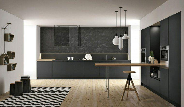 schwarze küche: elegant, modern und zeitlos - http://schickmobel, Kuchen