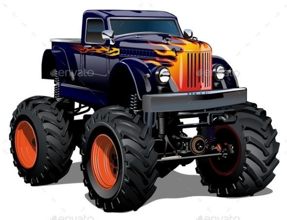 Cartoon Monster Truck Monster Trucks Cartoon Monsters Truck Detailing