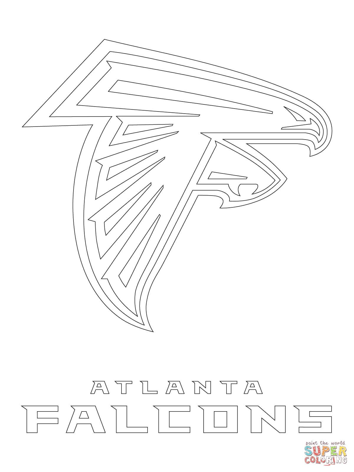 Atlanta falcons logo coloring page from nfl category select from 27538 printable crafts of cartoons nature animals bible and many more