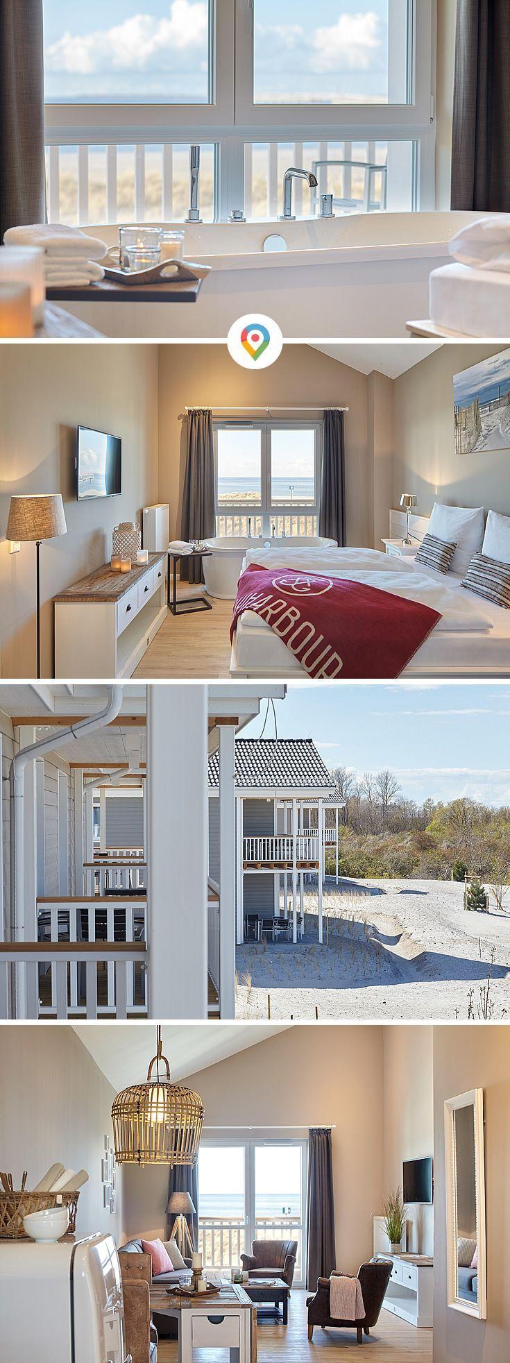 Ferienwohnung Ocean L Fur 6 Personen Und 2 Schlafzimmer Mit Meerblick In Heiligenhafen An Der Ostsee Badewan In 2020 Apartment Living Room Apartment Living Apartment